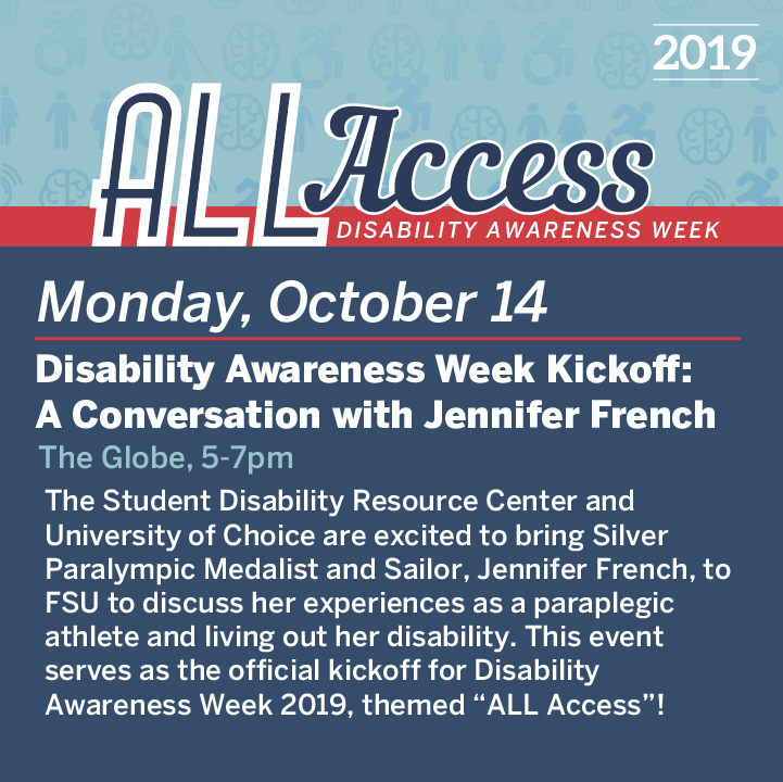 Graphic detailing event for October 14th during Disability Awareness Week