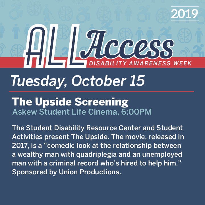 Graphic detailing event for October 15th during Disability Awareness Week