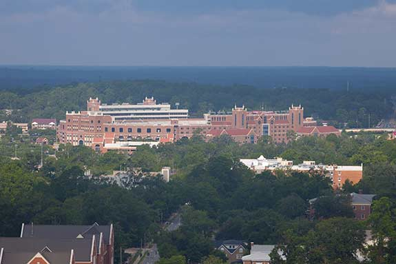 Photo of an arial view of Florida State University's campus