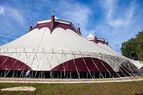 Photo of the FSU circus tent