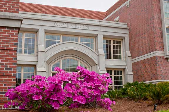 Photo of the brick exterior of FSU's Medical School