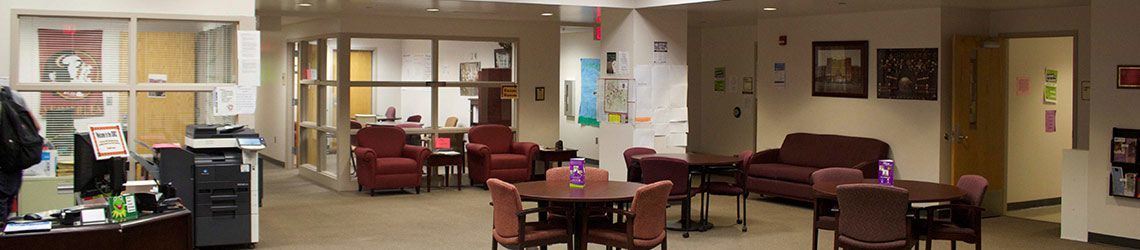 Photo of the Student Disability Resource Center's lobby and common area
